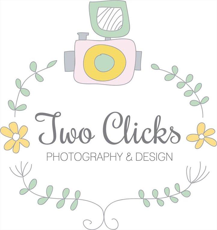 two clicks photography logo