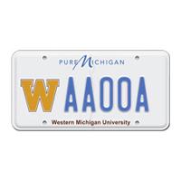 WMU license plate sample