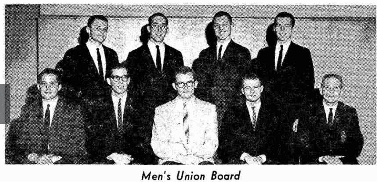 Western Herald Announcement of Men's Union Board